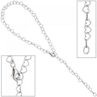 Fußkettchen Fußkette mit Anhänger Herz 925 Sterling Silber 27 cm