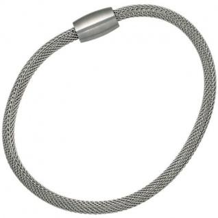 Strumpfarmband Edelstahl 19 cm - 4 mm Armband Magnetverschluss