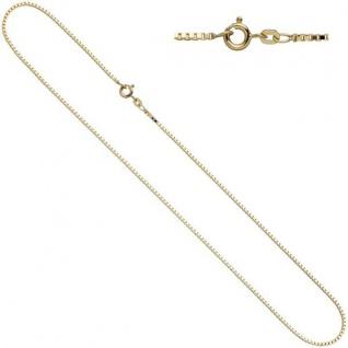 Venezianerkette 333 Gelbgold 1mm 45 cm Halskette Federring