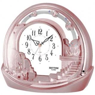 Rhythm 7443/18 Tischuhr quarz mit Pendel rosa rosegold farben