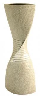 GILDE Vase Sanduhr aus der Champagner Keramik Serie, 43 cm - Vorschau