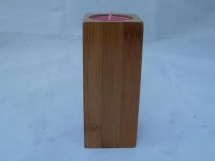 Teelichthalter aus Holz ca. 12 cm hoch