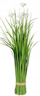 Künstliche blühende Cosmea-Blume als Bund grün weiß 62 cm Ziergras