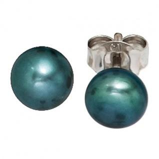 Ohrstecker 925 Silber 2 Süßwasserperlen Perlen Ohrringe