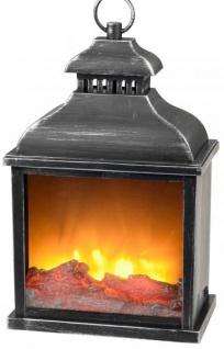 Formano 3D Laterne mit Flammen-Effekt 25 x 38 cm antik schwarz