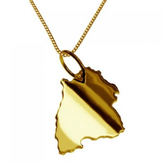 BADEN-WÜRTTEMBERG Kettenanhänger aus 585 Gelbgold mit Halskette