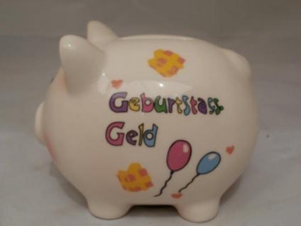Sparschwein Geburtstags-Geld aus Porzellan