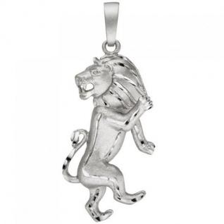 Anhänger Sternzeichen Löwe 925 Sterling Silber teil matt