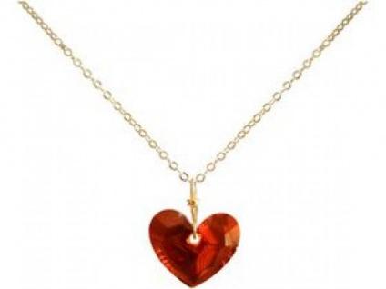 Halskette Anhänger vergoldet Herz MADE WITH SWAROVSKI ELEMENTS®