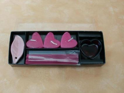 Kerzen- Räucher-Set Herz