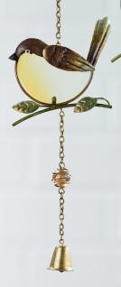 GILDE Dekohänger Vogel als Fensterbild, braun 47 cm