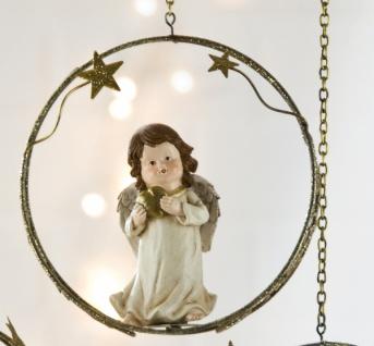 Weihnachtliche Hängedeko Engel mit Herz in den Händen, 18 cm