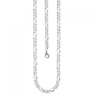 Figarokette 925 Silber diamantiert 50 cm Halskette Silberkette Karabiner