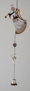 Weihnachtliche Hängedekoration Engel mit Herz, braun, 54 cm
