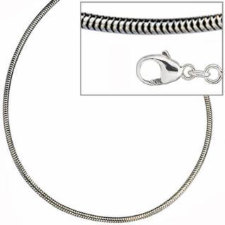 Schlangenkette 925 Silber 1, 9 mm 45 cm Halskette Silberkette Karabiner
