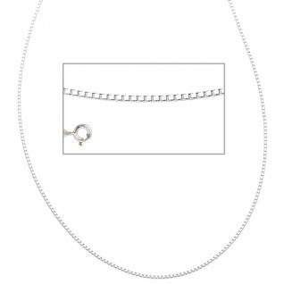 Venezianerkette 925 Silber rhodiniert 40 cm Halskette Federring