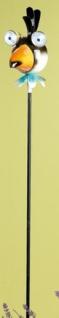 GILDE witziger Gartenstecker aus Metall Vogel mit Solar, 75 cm