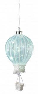 LED Heißluftballon mit Timerfunktion Batteriebetrieben 10 Ø Sommerdeko Partydeko Partylicht zum Hängen Lampions Dekolicht Ballon 27cm groß