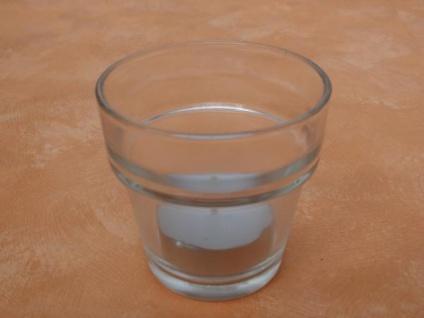 Schlichtes Votivglas, 6 cm hoch