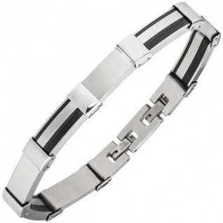 Armband Edelstahl teilweise schwarz beschichtet 21 cm