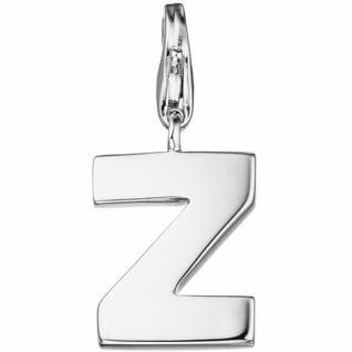 Einhänger Buchstabe Z 925 Sterling Silber Anhänger für Bettelarmband