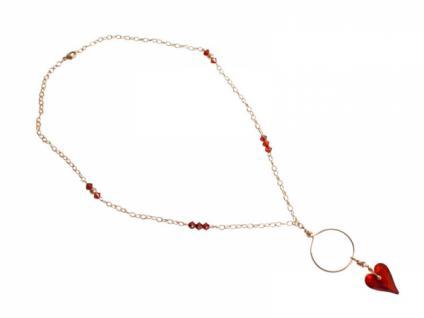 Herz Halskette Anhänger Vergoldet Wld Heart SWAROVSKI ELEMENTS®