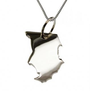 TSCHAD Kettenanhänger aus massiv 925 Silber mit 50 cm Halskette