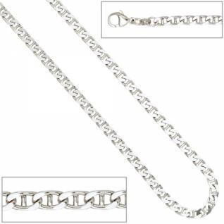 Armband 925 Sterling Silber rhodiniert 21 cm Karabiner