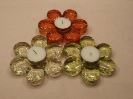 3 Teelichthalter Blume - ca. 8 cm Durchmesser - Vorschau 1