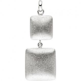 Anhänger 925 Sterling Silber matt mattiert Silberanhänger