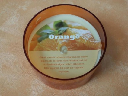 Duftkerze im Glas - Orange