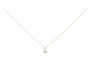 Halskette mit Anhänger STERN Diamant Brillant 925 Silber 1 cm