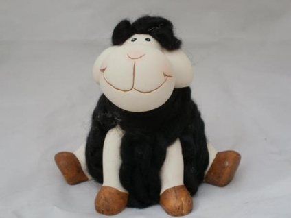 Dekofigur großes Schaf aus Keramik