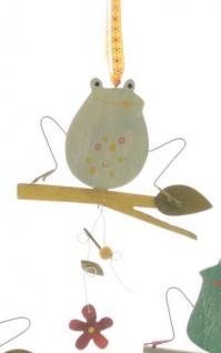 DIO Dekohänger Frosch aus Holz in Hellblau, 10, 5 x 15 cm