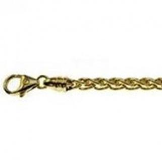 19 cm Zopfkette Armband - 585 Gelbgold - 4 mm