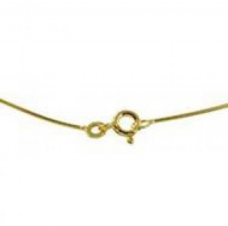 42 cm Omega Halsreif - 333 Gelbgold - 0, 8 mm Halskette