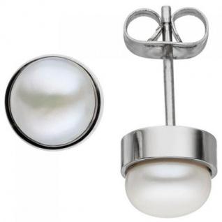 Ohrstecker Edelstahl 2 Süßwasser Perlen Ohrringe Perlenohrstecker