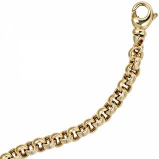 Erbsarmband 585 Gold Gelbgold 19 cm Armband Karabiner - Vorschau 3