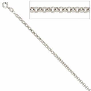 Erbskette 925 Sterling Silber 2, 5 mm 50 cm Halskette Federring