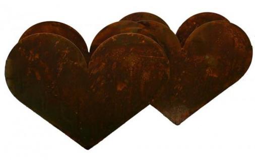 Herz zum Pflanzen doppelt aus Metall ca. 29 cm hoch