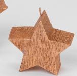 formano Deko-Kerze Stern gerillt kupfer, 10 cm