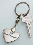 GILDE Schlüsselanhänger Herz aus Metall Dein Schutzengel, 10 cm
