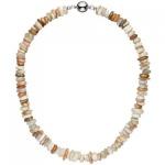 Halskette Kette Sonnenstein 45 cm Sonnensteinkette Steinkette