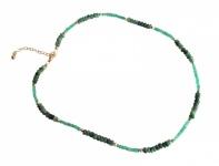 Smaragd-Halskette 45 cm