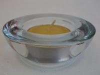 Teelichthalter aus Glas, Durchmesser 7, 5 cm