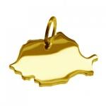 RUMÄNIEN Kettenanhänger aus massiv 585 Gelbgold