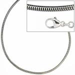 Schlangenkette 925 Silber 1, 9 mm 50 cm Halskette Silberkette Karabiner
