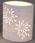 Tischlampe Aurea Blume oval 18 x 23 cm