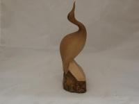 Vogel-Figur in geschnitzter Holz-Optik