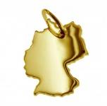 Deutschland Kettenanhänger aus massiv 585 Gelbgold